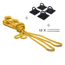 jógakötél, yoga rope,  , kampó és csavar csomag