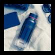 Ice Geo black BPA mentes műanyag kulacs 570ml - Quokka
