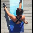 Combo Yoga Mat - GeoBlue / YogaDesignLab