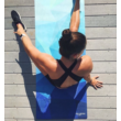 Utazó Jógaszőnyeg - Geo Blue / YogaDesignLab