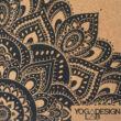 Parafa Travel jógaszőnyeg - Mandala Black / YogaDesignLab