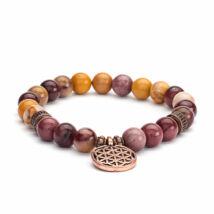 Yolk stone wrist mala bracelet - Bodhi