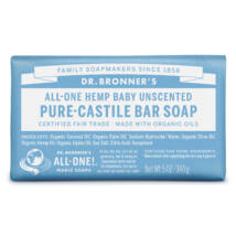 Dr. Bronner's Bio szilárd szappan - Illatmentes 140g