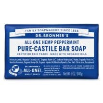 Dr. Bronner's Bio szilárd kasztíliai szappan - Borsmenta 140g