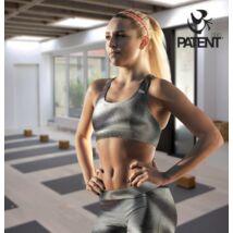 Fényes selymes fekete technikai sportmelltartó - PatentDuo
