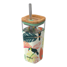 Glass straw tumbler with silicone cover  - Quokka