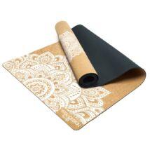 Cork Yoga Mat Mandala White - YogaDesignLab