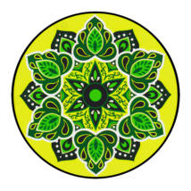 Mandala window sticker