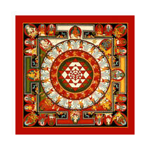 Mandala fridge magnet