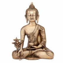 Buddha réz szobor, aranyozott, 18cm - Bodhi