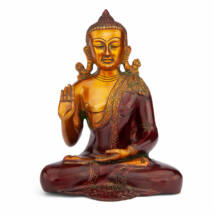 Buddha réz szobor, többszínű, 25cm - Bodhi