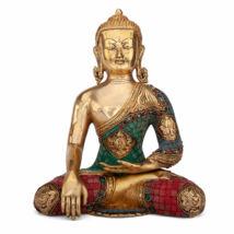 Buddha réz szobor, többszínű, 30cm - Bodhi