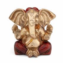 Ganesh réz szobor, többszínű, 12cm - Bodhi