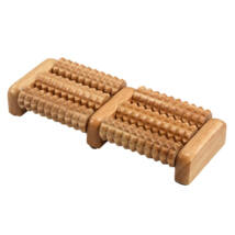 Foot massage roller, wood, 6 rollers - Bindu