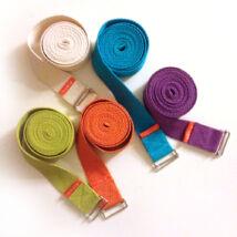 jógaheveder, yoga strap, színes Bindu