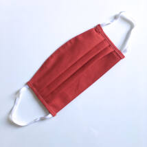 Textil, mosható, 2 rétegű szájmaszk - Bordó