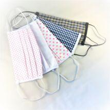 Textil, mosható, 2 rétegű szájmaszk - Rózsaszín pöttyös
