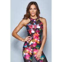 Flowers Butterly Yoga Tanktop (Removable Bra Pads)