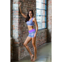 Purple Mandala Yoga Shorts