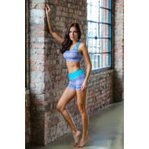 Aqua Mandala Yoga Shorts – Indi-Go
