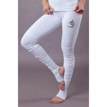 White OM Yoga Pants Foot Warmers