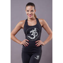 Black OM Yoga Top