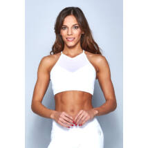 Tina White Yoga Top With Removable Bra Pads – Indi-Go