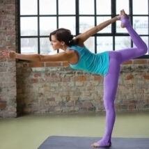 Jóga nadrág, yoga pants,  talpas lila