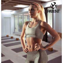 Női pamut világosszürke sportmelltartó - PatentDuo
