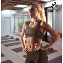 Női pamut sötétszürke sportmelltartó - PatentDuo