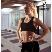 Női pamut fekete sportmelltartó - PatentDuo