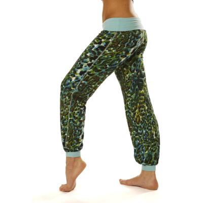Jóga nadrág, yoga pants,  Yogin Jungle Green