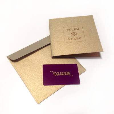 jóga ajándékkártya, yoga gift card, jóga ajándékutalvány