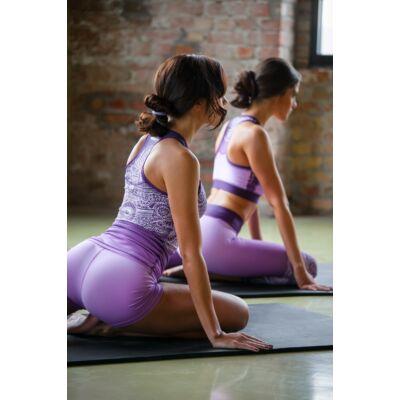 Jóga sort, yoga shorts, Purple Fantasy