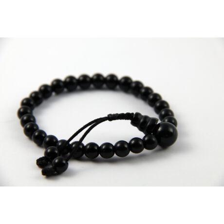 Fekete onix csukló mála, állítható - KarmaGuru
