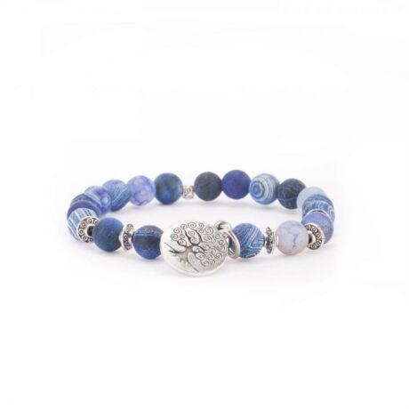 Blue agate mala bracelet - Bodhi