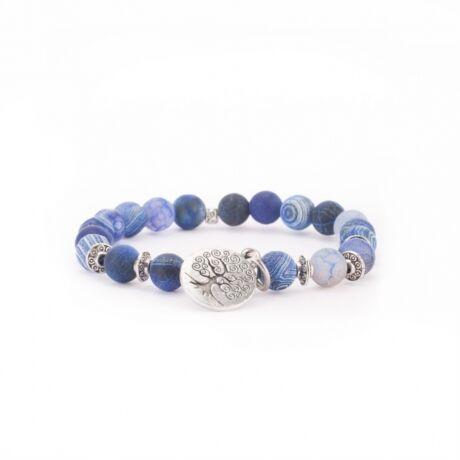 Kék achát karmála - Bodhi
