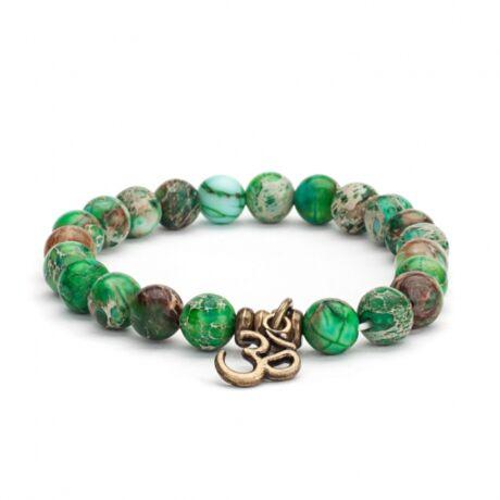 Green Turquoise wrist mala bracelet - Bodhi
