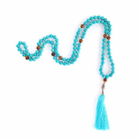 Mala Turquoise and Tigereye - Bodhi