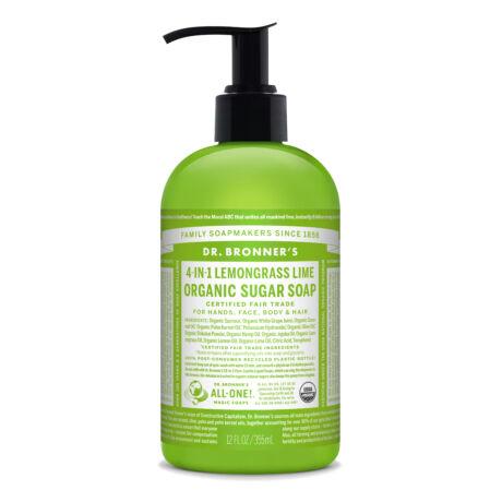 Dr. Bronner's Organic sugar soaps 355ml - Lemongrass-Lime