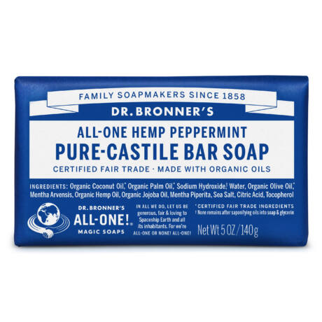 Dr. Bronner's Organic pure-castile bar soap 140g - Peppermint