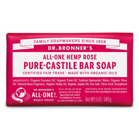 Dr. Bronner's Organic pure-castile bar soap 140g - Rose