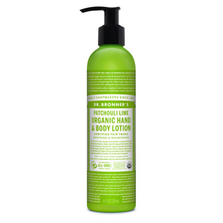 Dr. Bronner's Organic hand and body lotion 240ml - Patchouli-lime