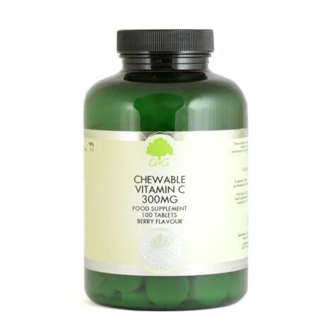 C-vitamin rágótabletta málna-meggy ízű 300mg 100 tabletta – G&G