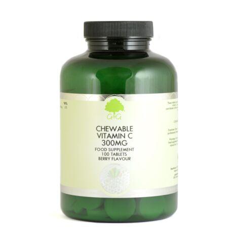 Chewable Raspberry Vitamin C Tablets - 300mg – G&G