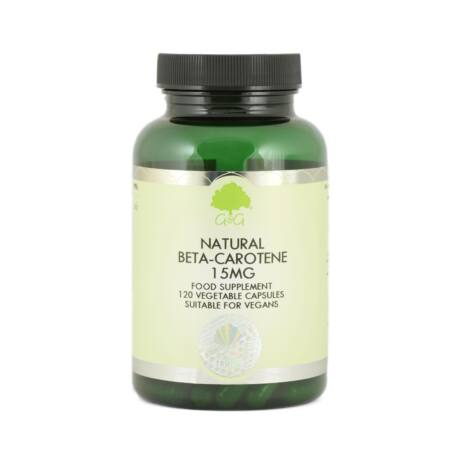 Natural Beta-Carotene 15mg (from micro-algae) - 120 Capsules – G&G