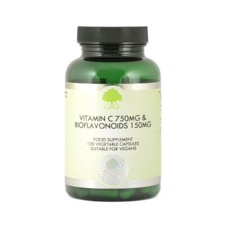 C-vitamin 750mg + bioflavonoidok 150mg 120 kapszula – G&G