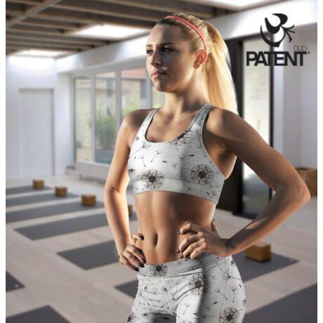 Szürke pitypang mintás női sportmelltartó - PatentDuo
