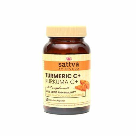 Kurkuma és C vitamin 60 kapszula - Sattva Ayurveda