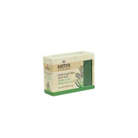 Ajurvédikus kézműves szappan - Neem és Aloe Vera 125g - Sattva Ayurveda
